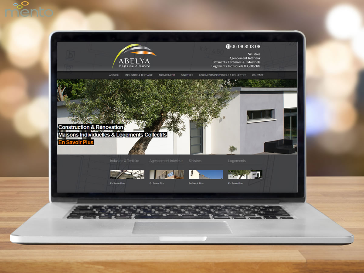 Abelya Construction<br>Site Internet